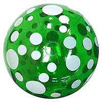 34'' Green Polka Dot Beach Balls