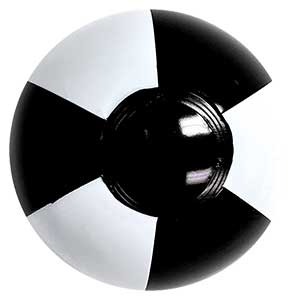 4'' Black & White Beach Balls