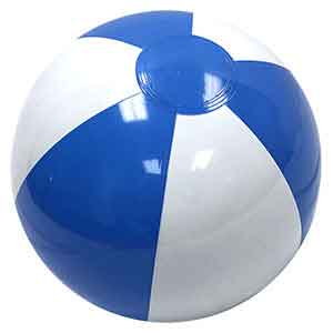 12'' Light Blue & White Beach Balls