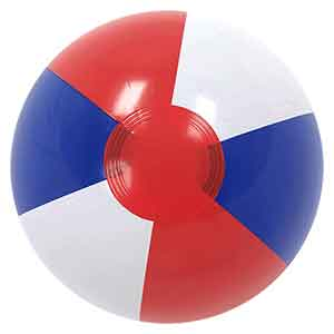 Clearance - 12'' Red White & Blue Beach Ball