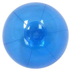 12'' Translucent Blue Beach Balls