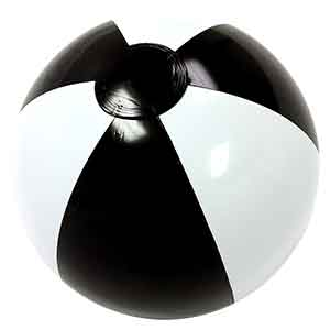 16'' Black & White Beach Balls