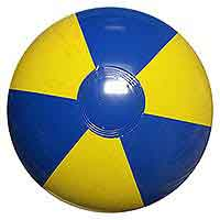16'' Blue & Yellow Beach Balls