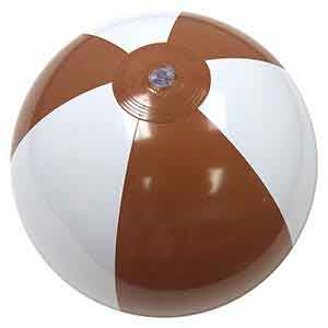 16'' Brown & White Beach Balls