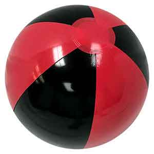 16'' Burnt Red & Black Beach Balls
