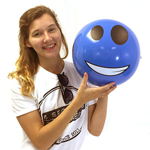 16'' Light Cool Blue Dude Beach Balls