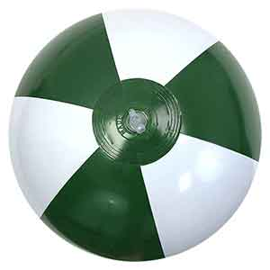 16'' Dark Green & White Beach Balls