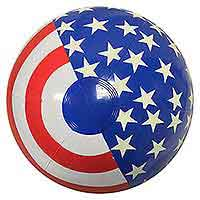 16'' Patriotic Stripes & Glow-in-the-Dark Stars