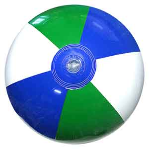 16'' Green Blue & White Beach Ball