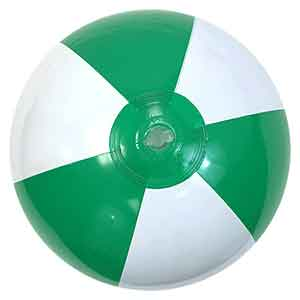 16'' Green & White Beach Balls