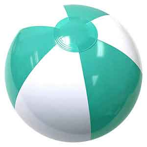 16'' Hitched Blue & White Beach Balls