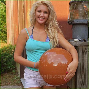 16'' Solid Brown Beach Balls