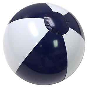 16'' Navy Blue & White Beach Balls