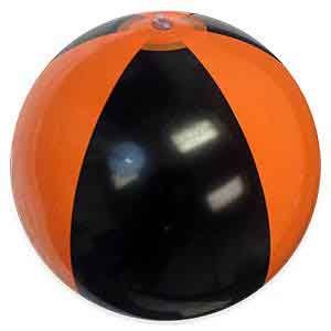 16'' Orange & Black Beach Balls