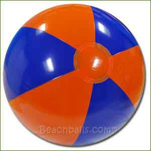 16'' Blue & Orange Beach Balls