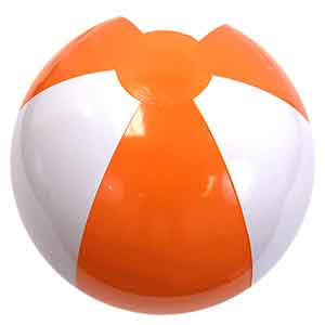 16'' Orange & White Beach Balls