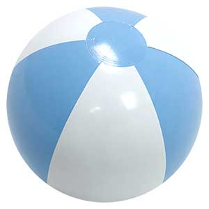 16'' Powder Blue & White Beach Balls