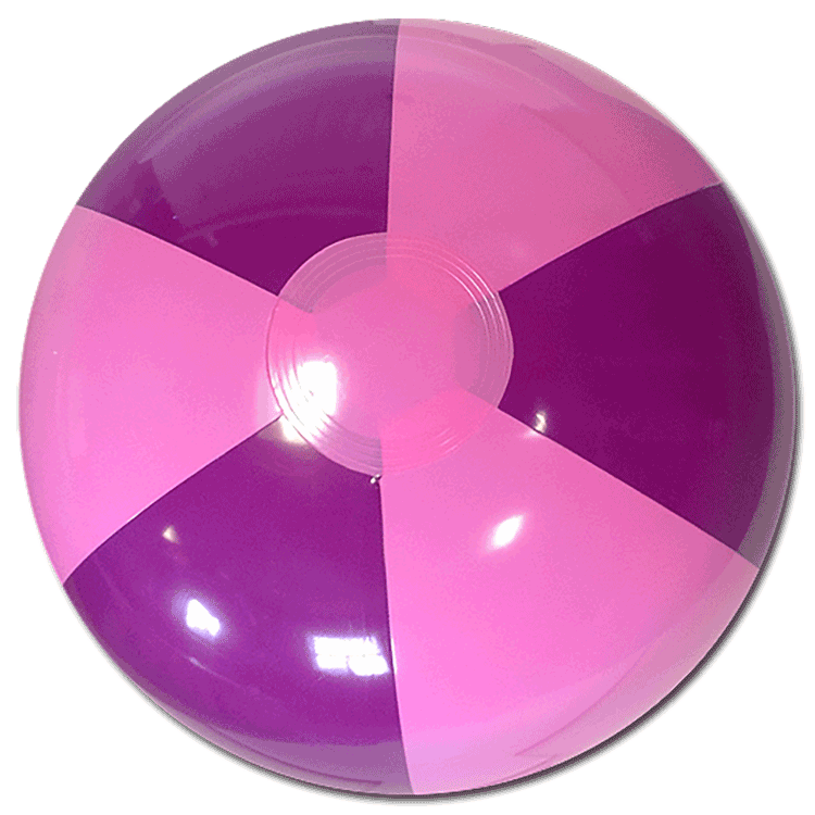 Beach Balls From Small To Giants 16 Inch Purple Amp Pink