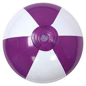 16'' Purple & White Beach Balls