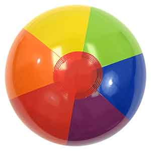 16'' Rainbow Bright Beach Balls