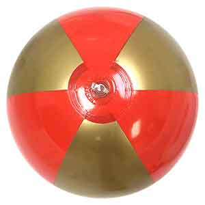 16'' Red & Gold Royal Beach Ball