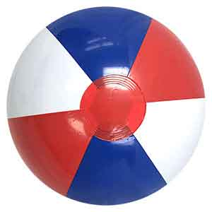 16'' Red White & Blue Beach Balls