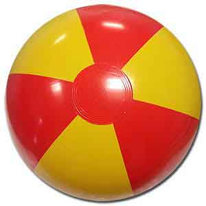 16'' Red & Yellow Beach Balls