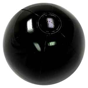 16'' Solid Black Beach Balls