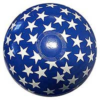 16'' Solid Blue with Stars Beach Balls