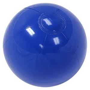16'' Solid Blue Beach Balls