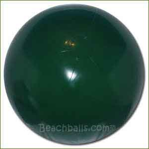 16'' Solid Dark Green Beach Balls