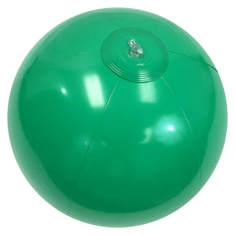 16'' Solid Green Beach Balls
