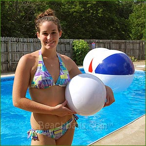 16'' Solid White Beach Balls