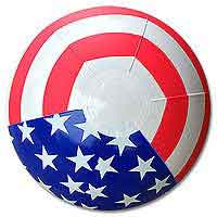 16'' Patriotic Stars & Stripes Beach Balls