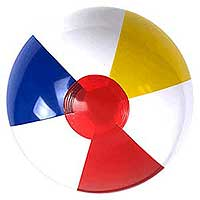 16'' Traditional Red Dot Beach Ball