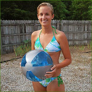 16'' Translucent Blue & Silver Beach Balls