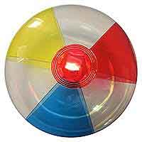 16'' Translucent Red, Blue, Yellow & Clear Beach Balls
