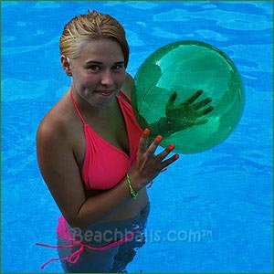 16'' Translucent Green Beach Balls