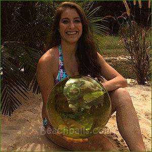 16'' Translucent Lime Green Beach Balls