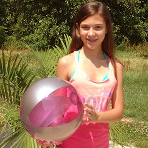 16'' Translucent Purple & Silver Beach Balls