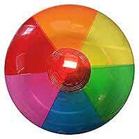 16'' Translucent Rainbow Beach Balls