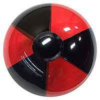 12'' Translucent Red & Black Beach Balls