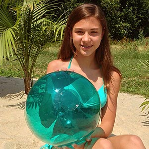 16'' Translucent Teal Beach Balls