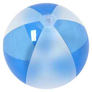 16'' Translucent Blue & Opaque White