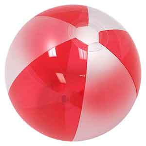 16'' Translucent Red & Opaque White