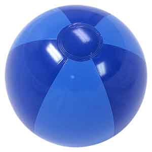 16'' Two Tone Blue Beach Balls