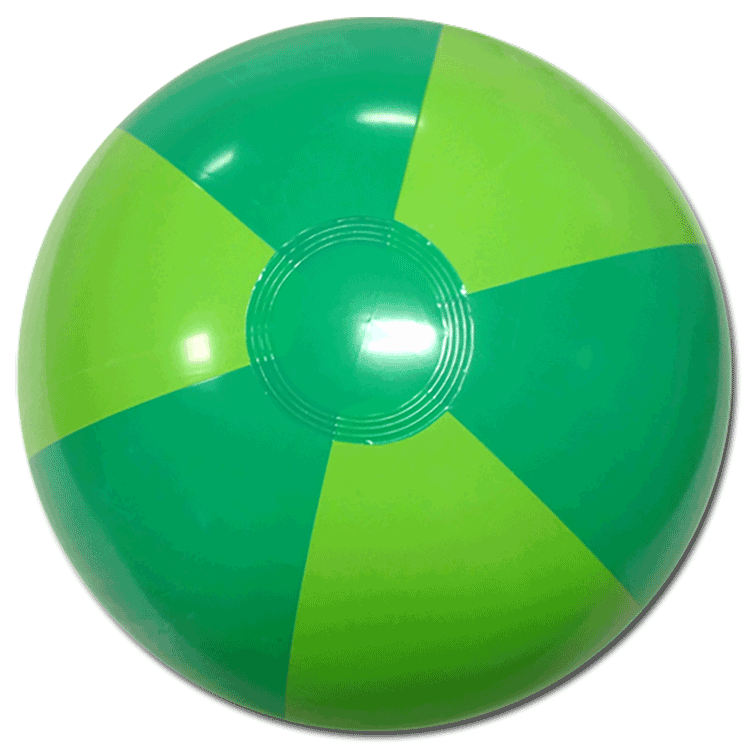 Largest Selection Of Beach Balls 16 Inch Two Tone Green