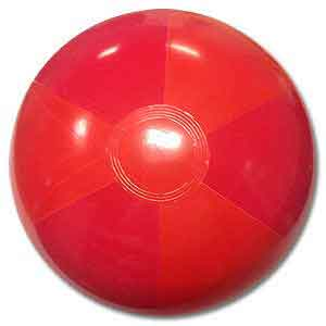 16'' Two Tone Red Beach Balls