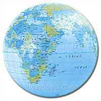 16'' World Globe Solid Beach Balls