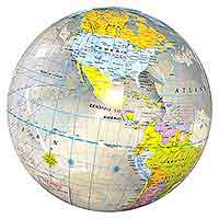 16'' World Globe Clear Beach Balls